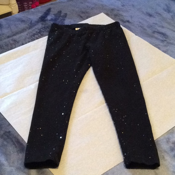 cf75760ba9ff4 Cat & Jack Bottoms   Cat Jack Size 45 Girls Sparkle Black Leggings ...